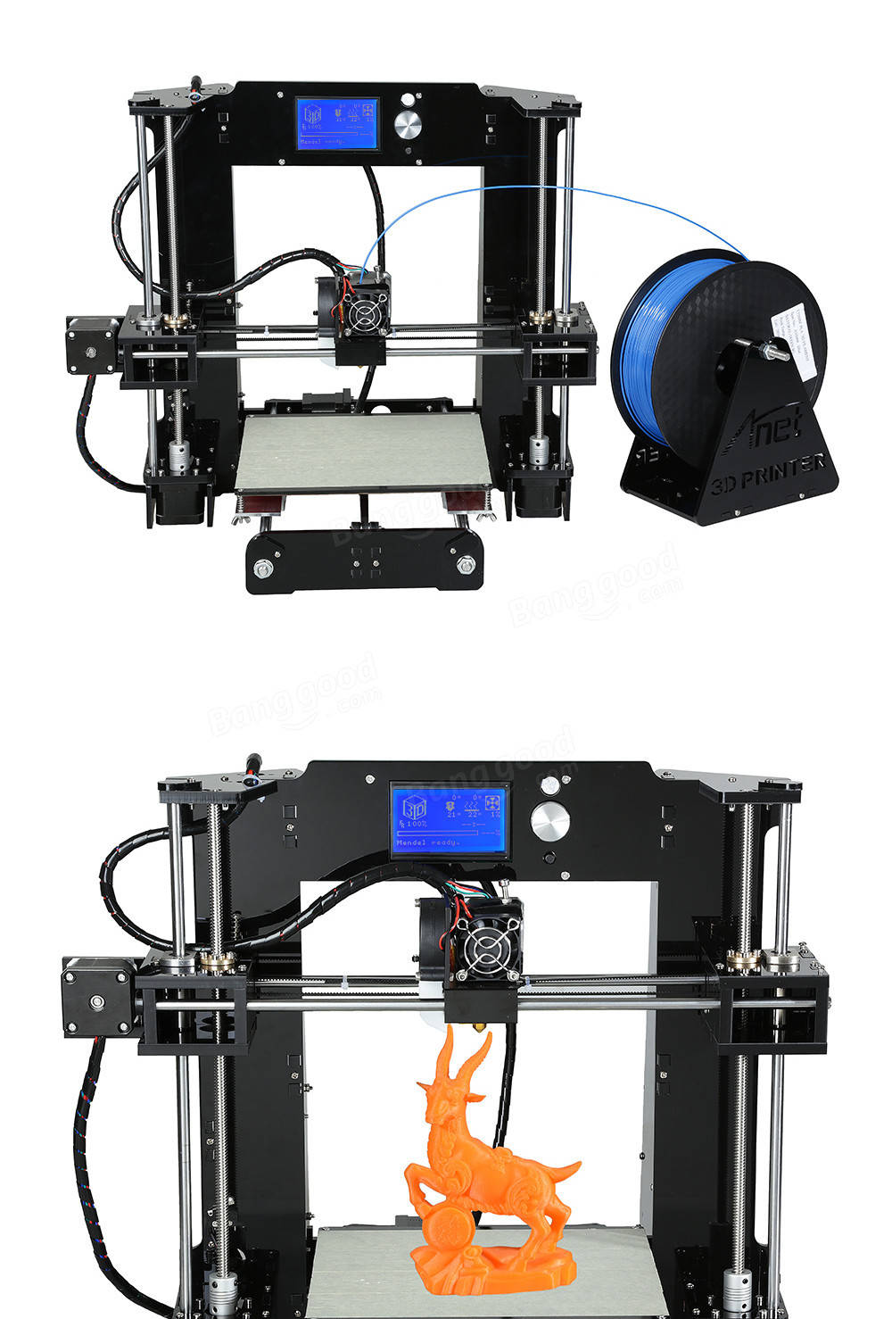 Anet® A6 3D Printer Printer Kit 1.75mm / 0.4mm Soporte ABS / PLA / HIPS