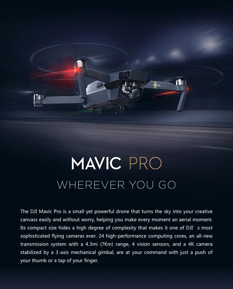 DJI ocusync FPV con 3axis cámara 4k cardán rtf rc quadcopter Pro Mavic